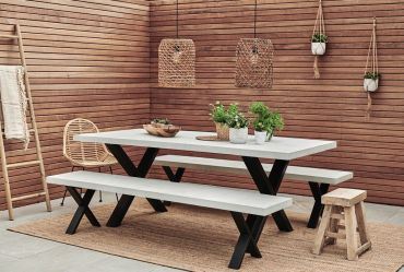 Xavier Outdoor Concrete Table